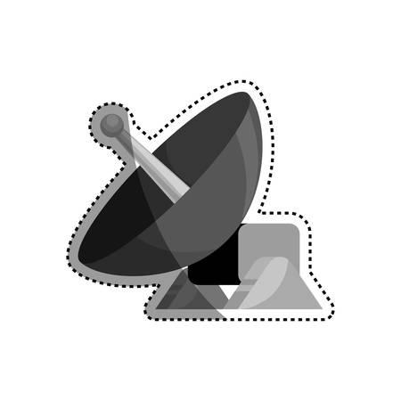 Parabolic antenna technology icon vector illustration graphic design Illustration