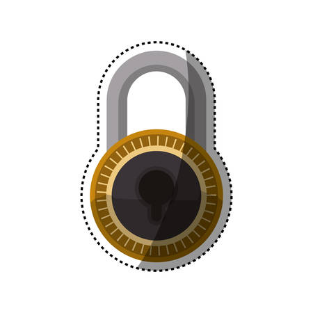 Security padlock device icon vector illustration graphic design
