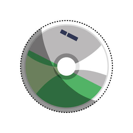 rom: Software cd computer icon vector illustration graphic design