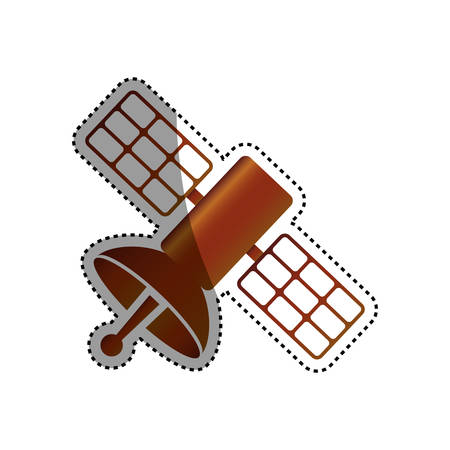 space station: Satellite communication technology icon vector illustration graphic design Illustration