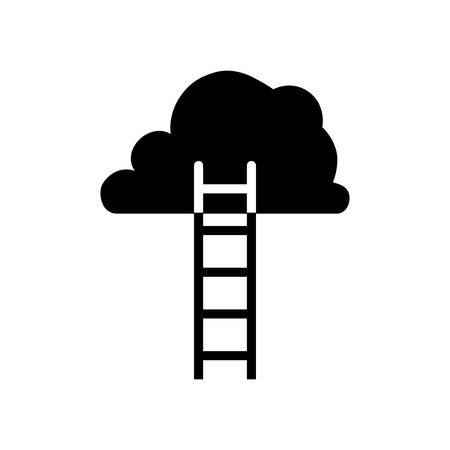 Ladder to heaven icon vector illustration graphic design Çizim