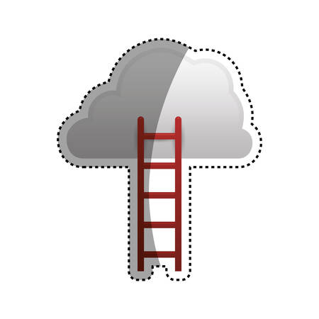 Ladder to heaven icon vector illustration graphic design Illustration