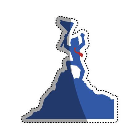 Successful executive businessman icon vector illustration graphic design Illustration