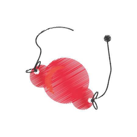 drawing red noseapril fools vector illustration eps 10 Illustration
