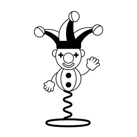 prank: jester april fools day line vector illustration eps 10 Illustration