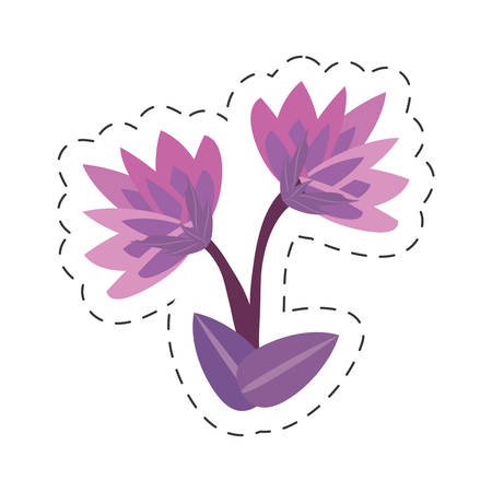 cartoon lily flower image vector illustration eps 10