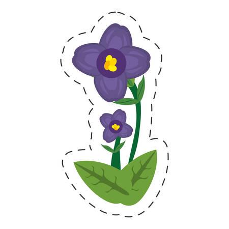 Dessin animé africaine violet fleur illustration vectorielle eps 10 Vecteurs