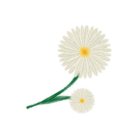 drawing daisy flower ornament image vector illustration eps 10 Illustration