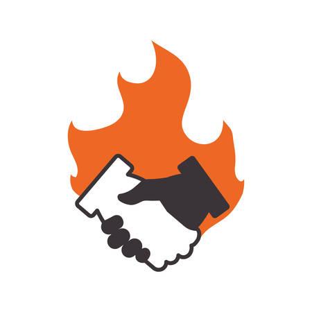 Handshake deal symbol icon vector illustration graphic design Illustration