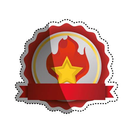 Star shape symbol icon vector illustration graphic design Illustration
