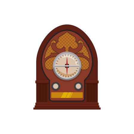 Antique radio stereo icon vector illustration graphic design
