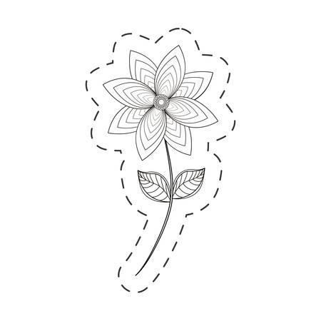 chrysantemum flower decoration cut line vector illustration eps 10 Illustration