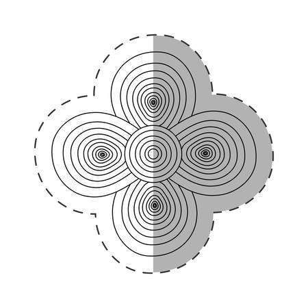 geranium flower decoration cut line vector illustration eps 10