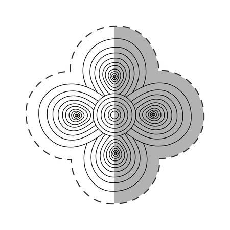 geranium květina dekorace vystřihnout vektorové ilustrace eps 10 Ilustrace