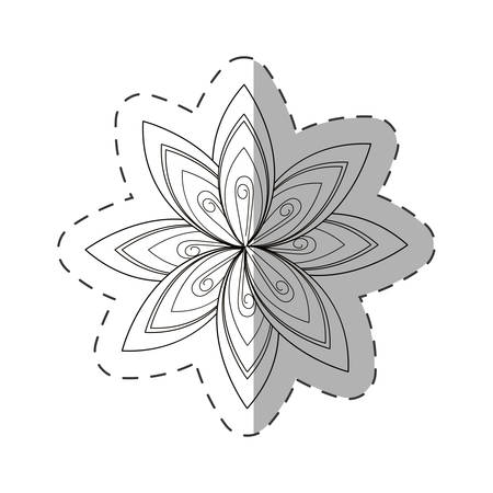 flower aster decoration image cut line vector illustration eps 10