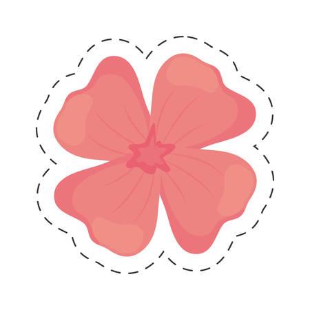 geranium flower color cut line vector illustration eps 10