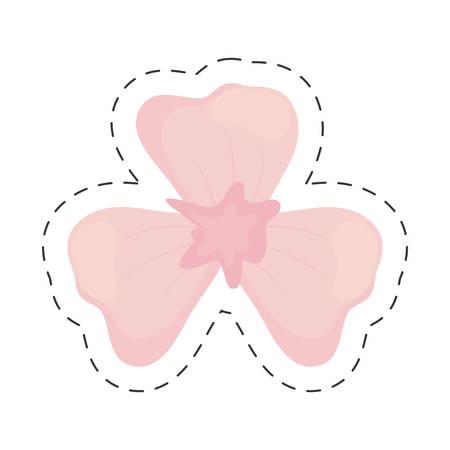 lily flower decoration color cut line vector illustration eps 10