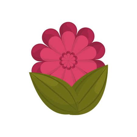 gerbera flower bud with leaves vector illustration eps 10 Stock Photo