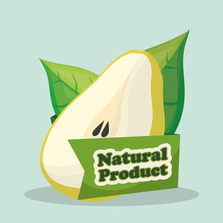 pear natural product market label vector illustration eps 10 Illustration