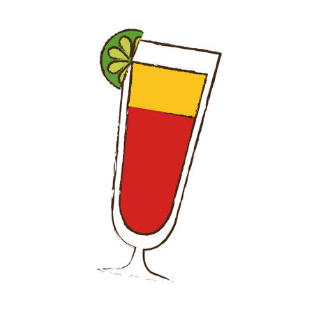 cocktail glass cup drink image vector illustration eps 10