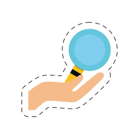 hand holding search online shopping icon vector illustration eps 10 Illustration