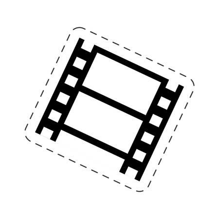 35mm film motion picture camera: strip film cinema movie image vector illustration eps 10