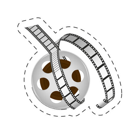reel film strip cinema movie image vector illustration eps 10