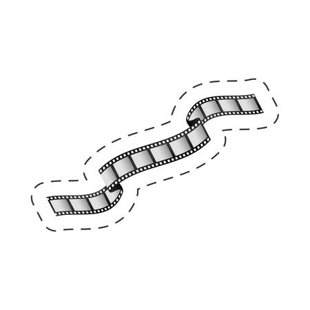 35mm film motion picture camera: film strip roll movie image vector illustration eps 10