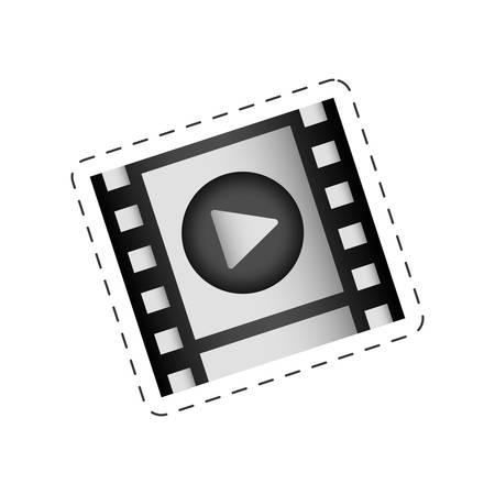 dvd player: film strip play movie image vector illustration eps 10
