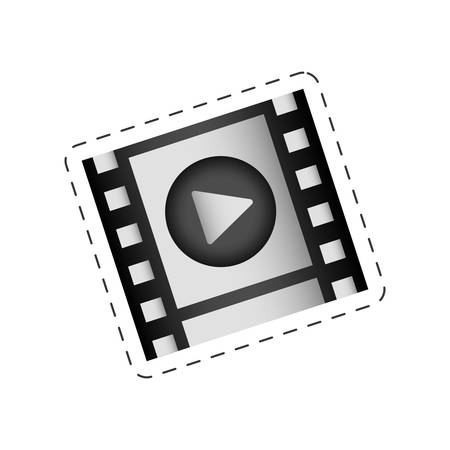 film strip play movie image vector illustration eps 10