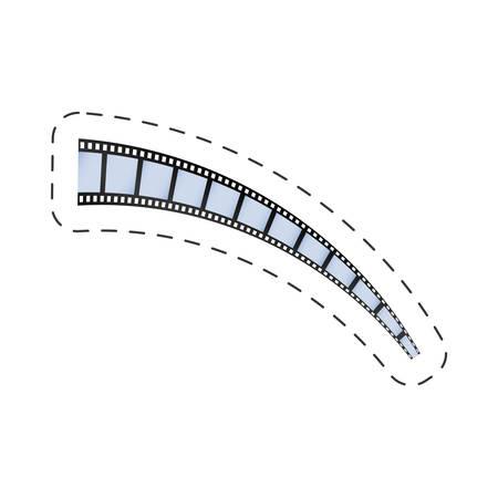 film strip roll movie image vector illustration eps 10