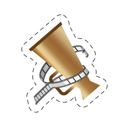 cinema speaker strip film movie image vector illustration eps 10 Illustration