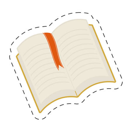 open book bookmarks read vector illustration eps 10