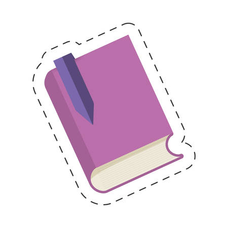 purple book bookmarks library vector illustration eps 10 Illustration