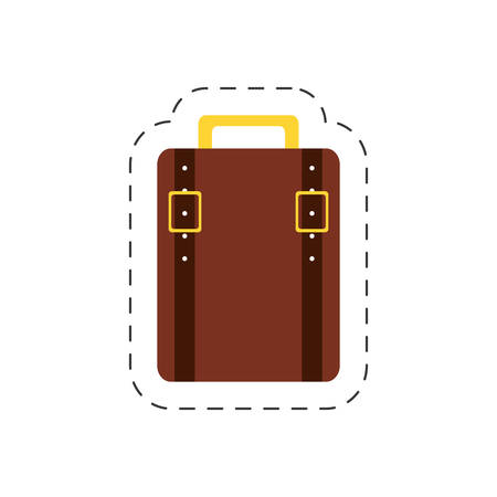 overfilled: suitcase baggage travel tourist vector illustration eps 10