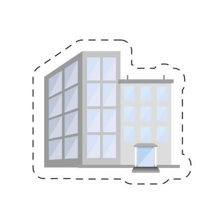 hotel building urban image vector illustration eps 10