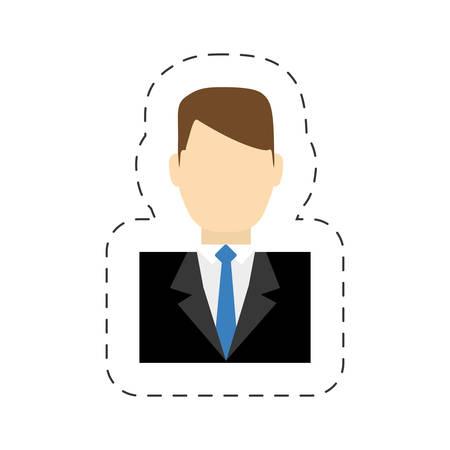 hotel manager service staff vector illustration eps 10