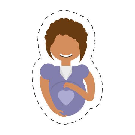 pregnant woman maternity pretty vector illustration eps 10 Illustration