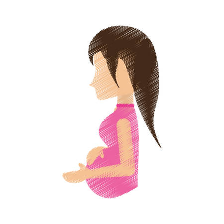 woman pregnant waiting expectant vector illustration eps 10 Illustration