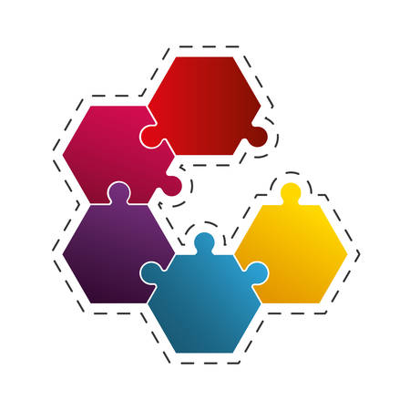 puzzle work solution image vector illustration eps 10