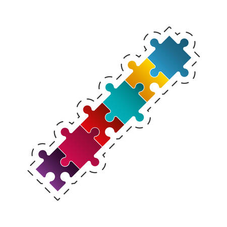 puzzle jigsaw solution image vector illustration eps 10
