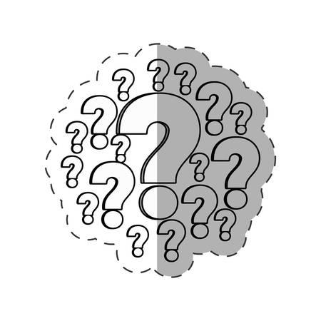 interrogatory: question mark image outline vector illustration eps 10