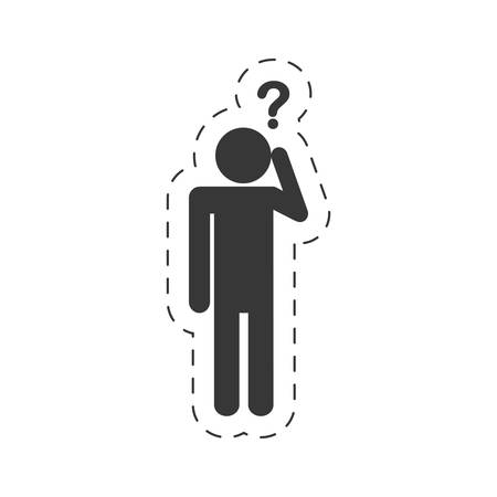 pictogram  question mark image vector illustration eps 10 Illustration