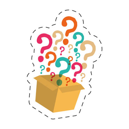 box question mark image vector illustration eps 10