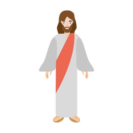 jesus christ christianity image vector illustration eps 10
