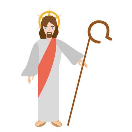 gospels: jesus christ resurrects - via crucis vector illustration eps 10