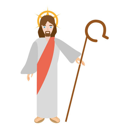 jesus christ resurrects - via crucis vector illustration eps 10