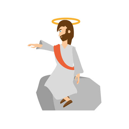 worship praise: jesus christ preach pray vector illustration eps 10 Illustration