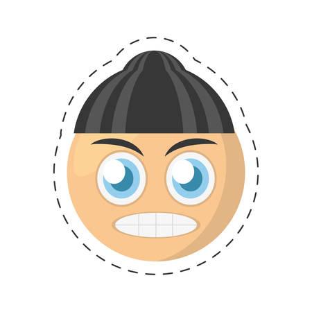 glum: emoticon bad comic image vector illustration eps 10