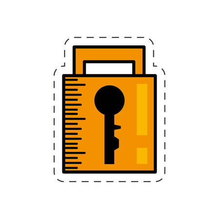 encode: cartoon padlock security system image vector illustration eps 10